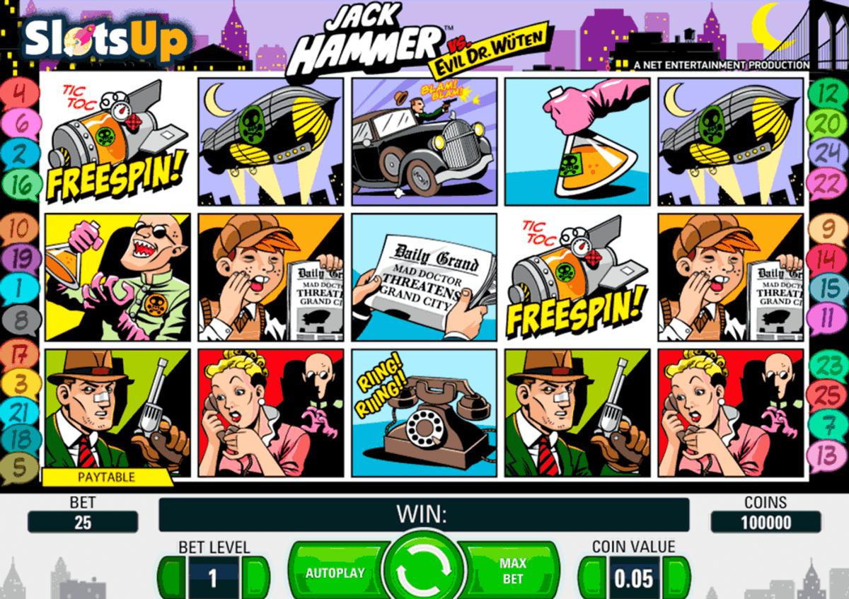 Jack Hammer Slot lines